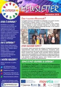 Scarica la prima newsletter per conoscere i progressi del partenariato ENTRADA